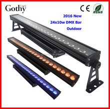 2016 Professional high brightness 24x10w led strip wall washer light