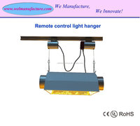Remote control hydroponics lighting reflector hanger lifter