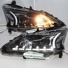 2013-2015 Year Teana For Nissan Altima LED Head Lights with Bi Xenon Projector Lens LF