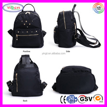 B576 Mini Rivets Waterproof Nylon Backpack Shoulder Bag Casual Daypack Nylon Mini Backpack