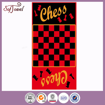 chess game beach towel with great price