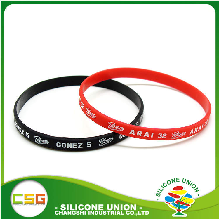 China good quality colorful silicone wristband rubber bracelets cheap