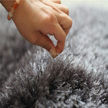 baby crawling microfiber grey shaggy plain carpet underlay