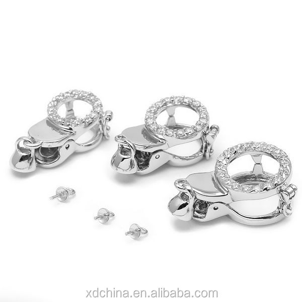 XD 141022160501 genuine 925 fancy sterling silver jewelry clasps