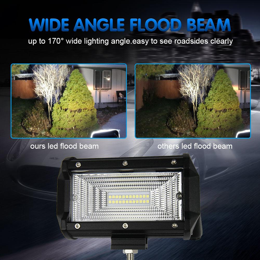 En gros 5 pouces 8000lm de tache d'inondation 72w a mené la barre légère de travail pour des camions tout-terrain