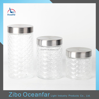 High Quality Canning Diamond Shaped Clear Glass Jars With Lid