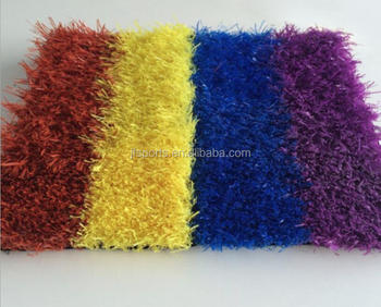 Chinese artificial turf grass carpet rainbow grass mat kindergarden turf