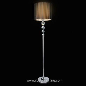 Modern room flower vase floor lamps led crystal standing for Led flower floor lamp