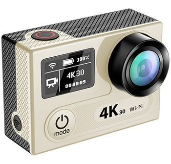 EKEN sports camera H8 H8R ultra 4K 30fps WiFi 2 inch Dual LCD proCam go waterproof action camera with Remote Controller