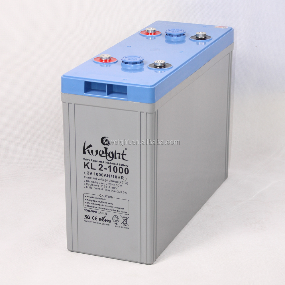 2V 1000Ah ups power supply long service life rechargeable batteries