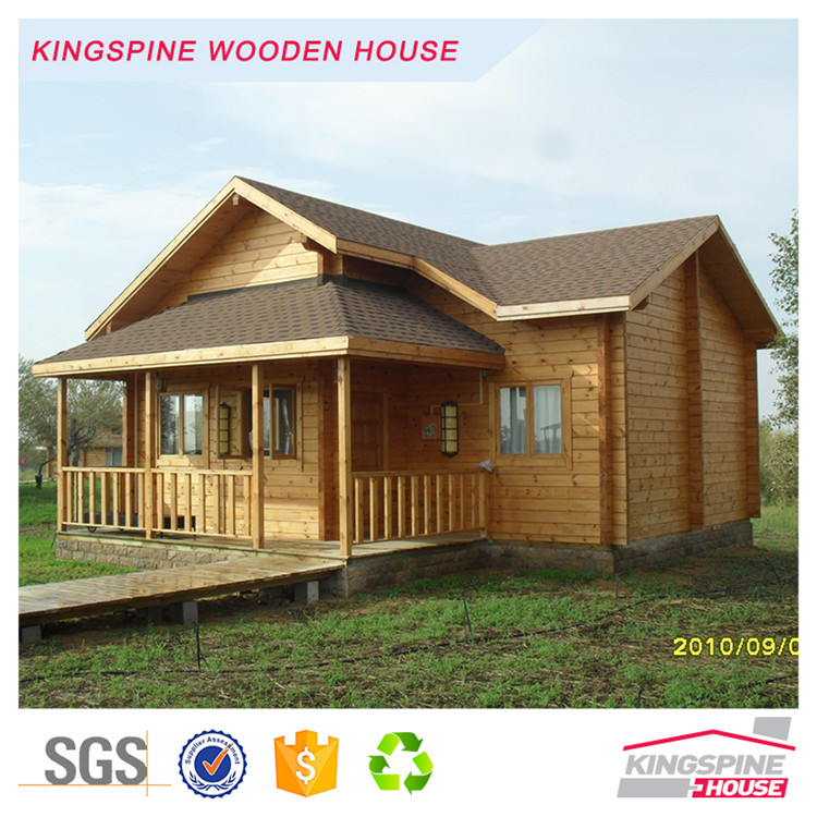 small home design prefabricated wood log house cabin KPL-010