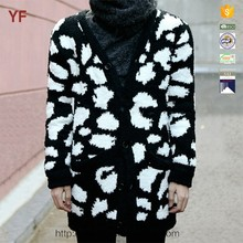 new arrival men's leopard cardigan clothing sweater