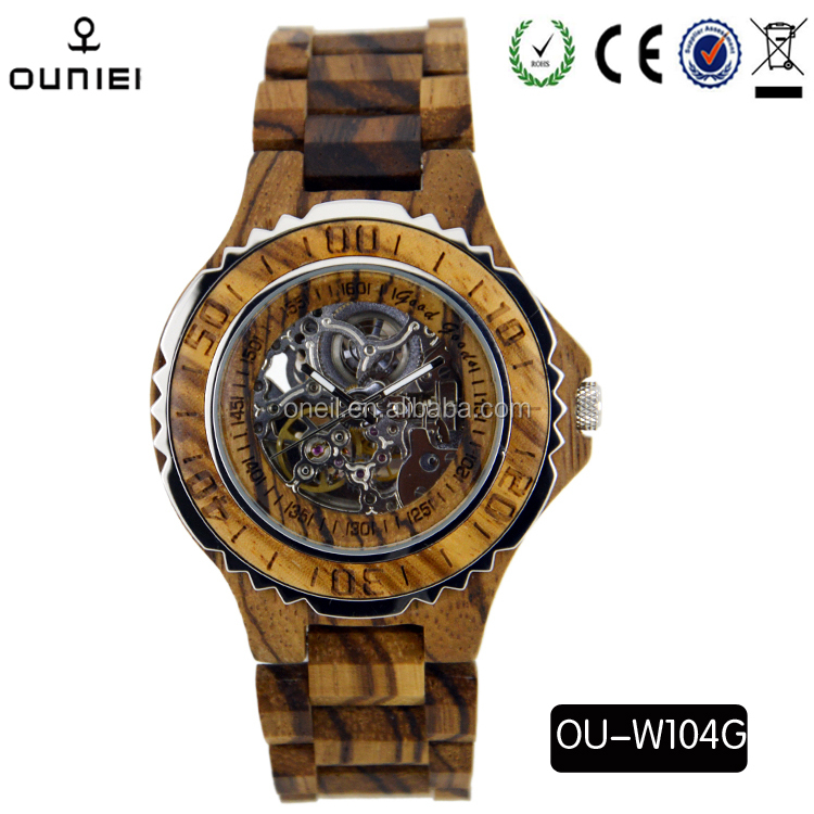 2016 LuxuryJapan Automatic Movt Wrist Wooden Watches for men women