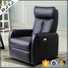 BJTJ black leather comfortable designs of single seater sofa 70298
