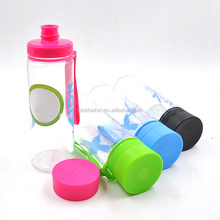 460ml/17oz Transparent BPA Free Plastic Water Cup with Cover Drinking Bottle with Small Mouth/Suction Nozzle