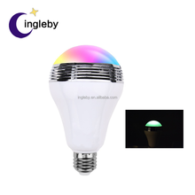 Bluetooth mini speaker music color changing E27 indoor decorative smart led light bulbs