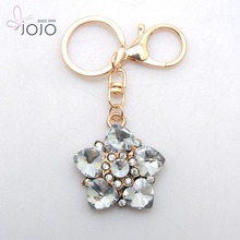 YIWU design custom keychain small quantities chain keychain rhinestone initial keychains