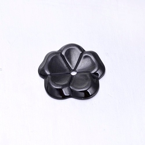 High quality new arrival white black ceramic charm fashion flower design ceramic DIY jewelry fitting for necklace and bracelet