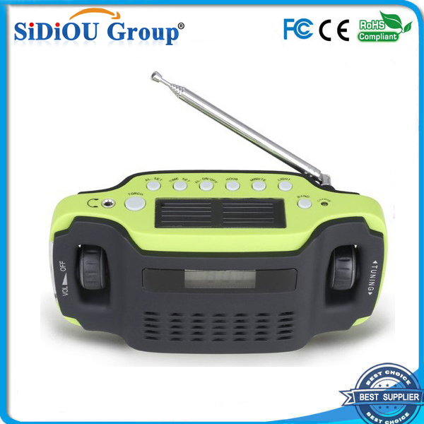 solar power led digital clock radio outdoor clock