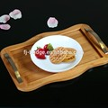 Bamboo Food Fruit Serving Tray with Handle