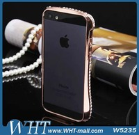 For iphone 5 Bling Bumper Cover Hand made Rhinestone Diamond Bumper Case
