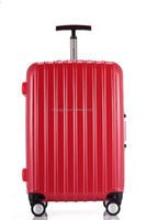 Colorful abs+pc plastic suitcase travel trolley hard shell luggage case
