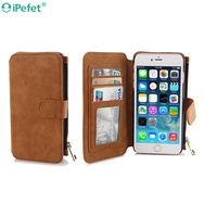 New Arrive Premium Multifuntional Flip Cover Wallet Case For iPhone 6,For iPhone 6 Leather Mobile Phone Case