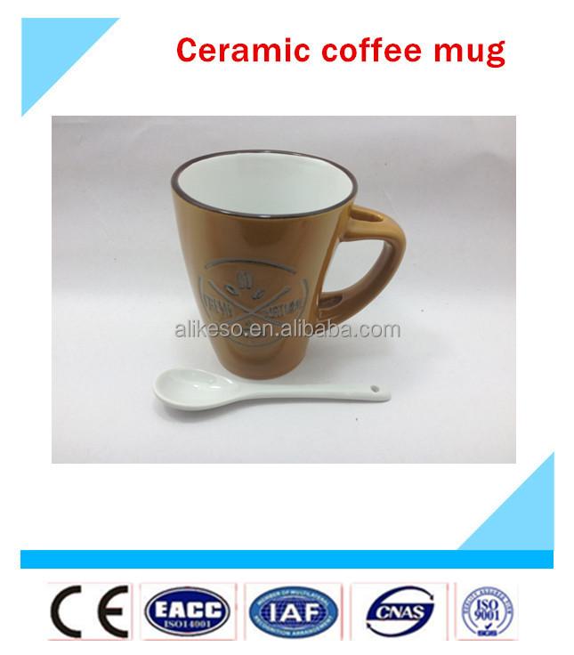 Ceramic Mug With Spoon Cheap Coffee Mugs Chinese Tea Mug