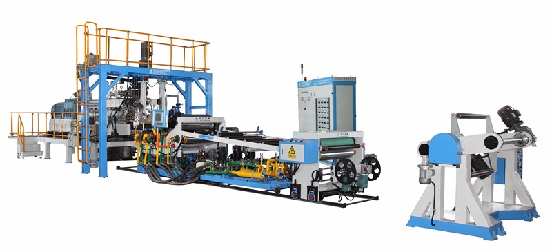 WJP75B-1000 twin screw extruder production line pet sheet extrusion