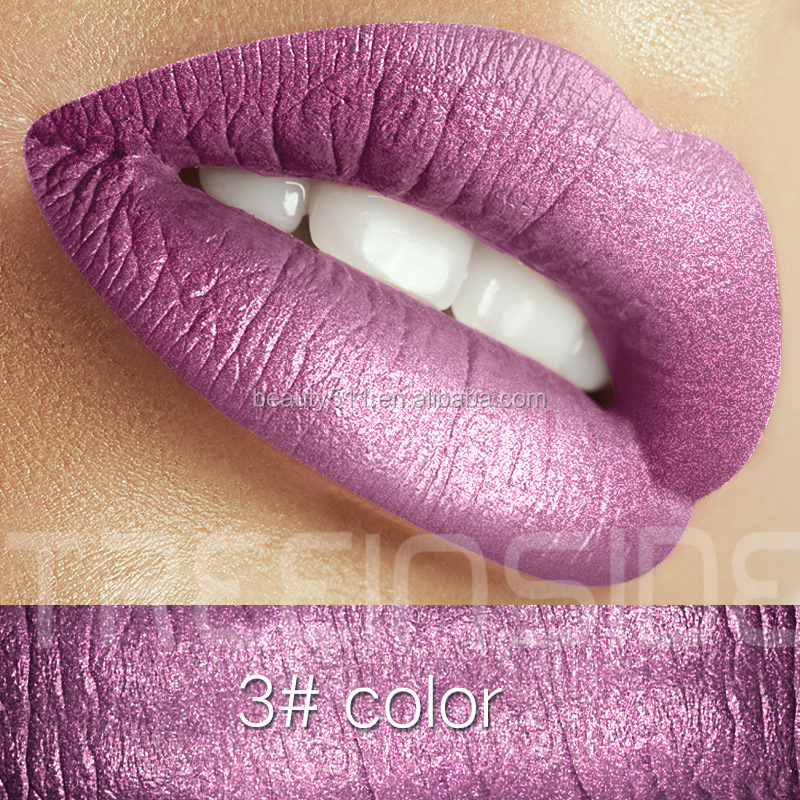New style 30colors Long lasting Waterproof Metal pearlite Lip gloss/Liquid lipstick T1001