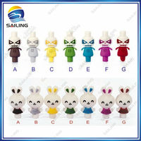 510 silicone drip tip/Sailing 510 bunny/rabbit/robot drip tip 2013/animal drip tips with colorful silica gel material