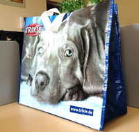 Pet food carry pp woven shopping bag