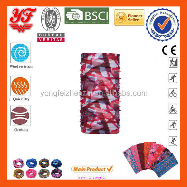 Red Pattern Of Abstract Lines On A White Background Multifunctional Seamless Tube Bandana Design Your Own Bandana