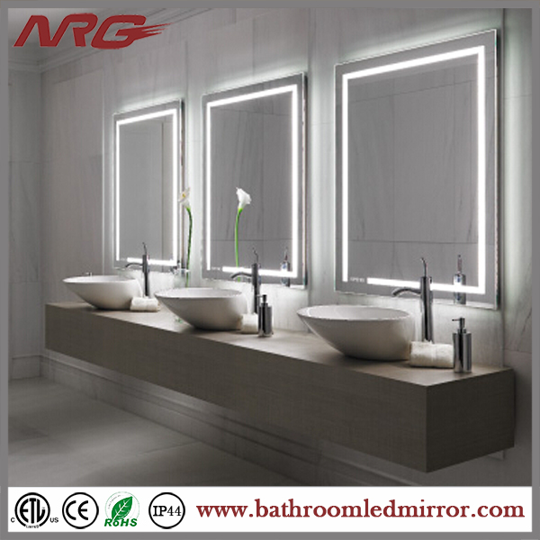 Contemporary Design Bathroom Oval Mirror Lights