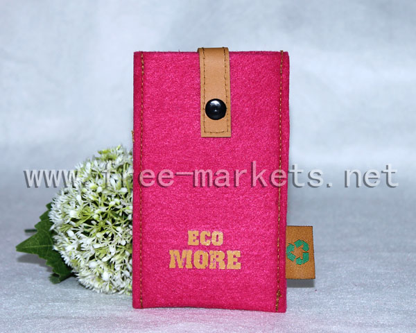 ECO friendly recycled felt mobile phone bags and cases