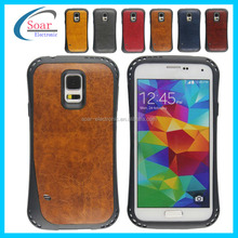 free sample nontoxic tpu with leather case for galaxy s5