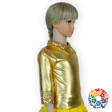Latest tops for girls 2015 sequined shiny golden clothing manufacturers girls tops and long sleeve blouses