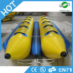 Factory Price Commercial Grade Water Games ,inflatable double tube banana boat , inflatable water banana