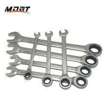 6-32MM Quick Reversible Combination Ratchet Wrench Set Metal Ratcheting Socket Spanner for Home Tools
