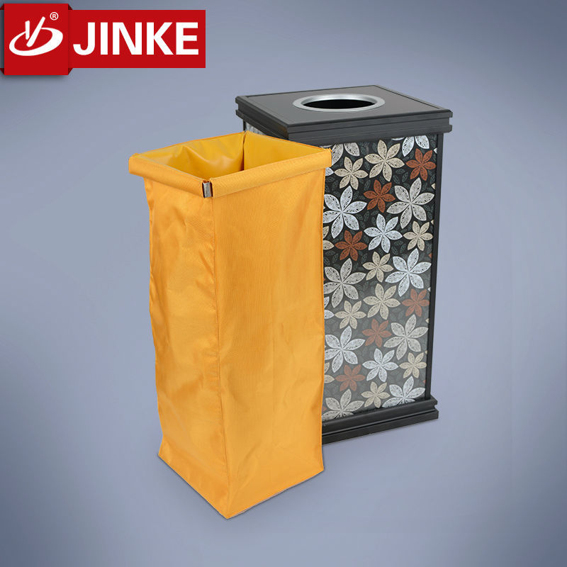 Latest elegance 40 litres lobby trash can for hot sale