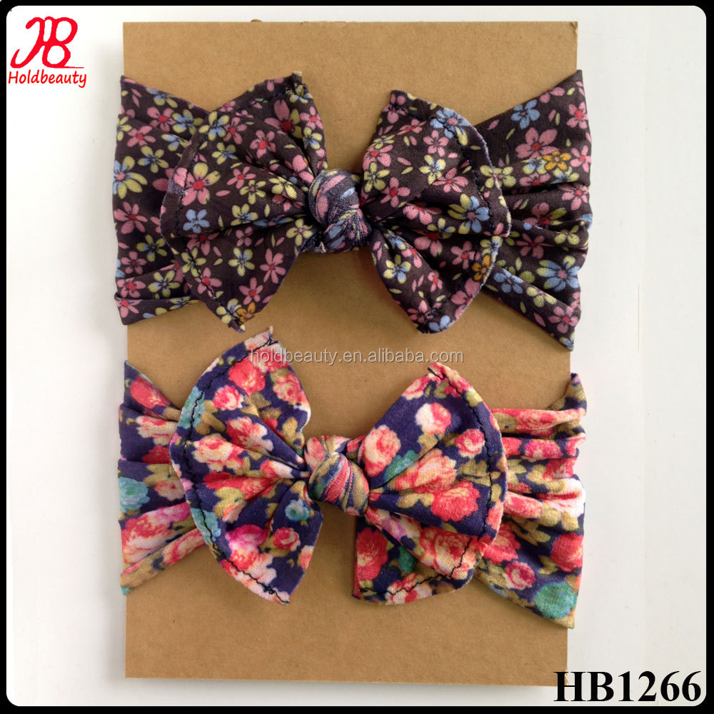 floral printing nylon headband super soft 100% nylon