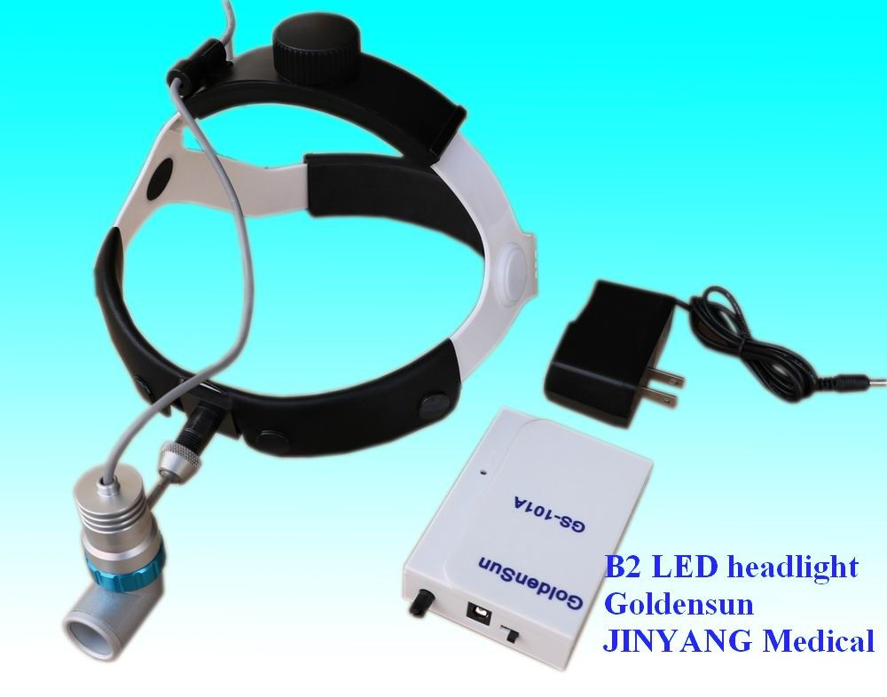 led headband headlamp headlight with rechargeable battery for ENT surgery