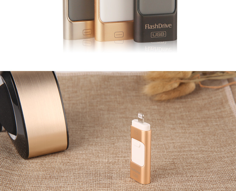 Latest 3 in 1 flash drive OTG USB flash drive for iphone & Android mobile phones &PC