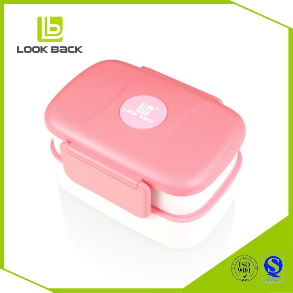 2017 New food grade compartment bento lunch box plastic containers
