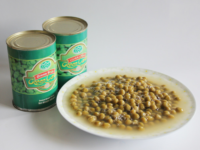 Canned Green Peas Tinned Food OEM Export To Middle East