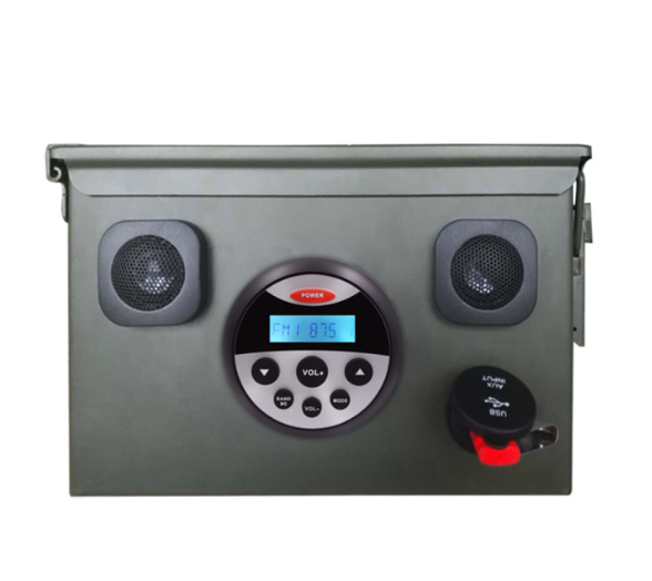 high quality ammo can stereos with bluetooth music,FM,AM,USB port for a picnic