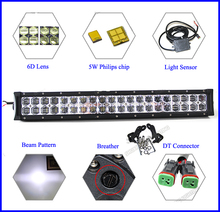 120W 200W double row led lighting bar ip67 6d led light bar for cars,jeep,auto parts