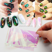 2015Hot New Custom shiny 5x30cm transfer foil for DIY Beauty Foil Stained Glass Nail Art