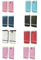 AIWEIKE Pearl Lace Folio Wallet Leather Cover for Samsung Galaxy S4