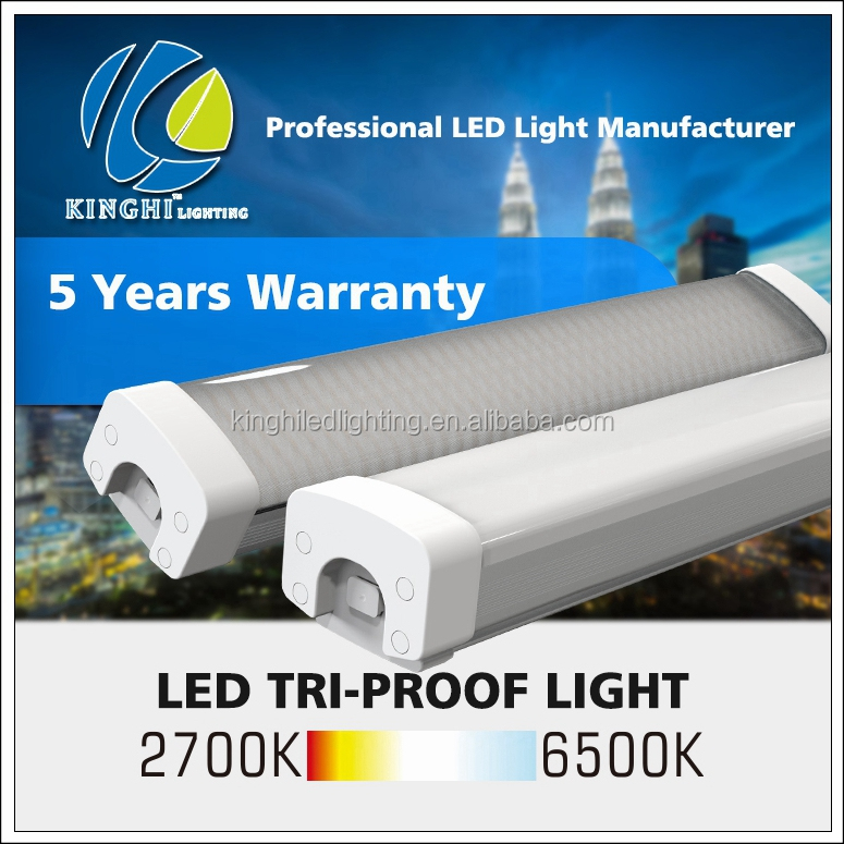 Waterproof ip65 tri-proof led 40w 4ft 1200mm replace t8 led tube light fixture